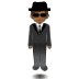 🕴🏾 man in suit levitating: medium-dark skin tone Emoji on Samsung Platform