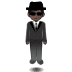 🕴🏿 man in suit levitating: dark skin tone Emoji on Samsung Platform