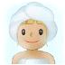 🧖🏼 Medium Light Skin Tone Person In Steamy Room Emoji on Samsung Platform
