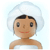 🧖🏽 Medium Skin Tone Person In Steamy Room Emoji on Samsung Platform