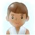 🧖🏽♂️ Medium Skin Tone Man In Steamy Room Emoji on Samsung Platform