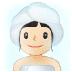 🧖🏻♀️ woman in steamy room: light skin tone Emoji on Samsung Platform