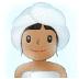 🧖🏽♀️ woman in steamy room: medium skin tone Emoji on Samsung Platform