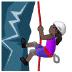 🧗🏿 person climbing: dark skin tone Emoji on Samsung Platform