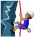 🧗🏽♂️ man climbing: medium skin tone Emoji on Samsung Platform