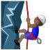 🧗🏾♂️ man climbing: medium-dark skin tone Emoji on Samsung Platform
