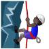 🧗🏿♂️ Dark Skin Tone Man Rock Climbing Emoji on Samsung Platform