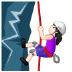 🧗🏻♀️ woman climbing: light skin tone Emoji on Samsung Platform
