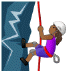 🧗🏾‍♀️ woman climbing: medium-dark skin tone Emoji on Samsung Platform