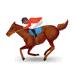 🏇🏾 horse racing: medium-dark skin tone Emoji on Samsung Platform