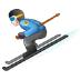 ⛷️ Person Skiing Emoji on Samsung Platform