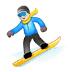 🏂 snowboarder Emoji on Samsung Platform