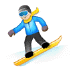 🏂🏻 Light Skin Tone Person Snowboarding Emoji on Samsung Platform