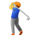 🏌️ person golfing Emoji on Samsung Platform