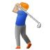 🏌🏼 Medium Light Skin Tone Person Golfing Emoji on Samsung Platform