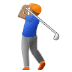 🏌🏽 person golfing: medium skin tone Emoji on Samsung Platform