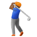🏌🏾 person golfing: medium-dark skin tone Emoji on Samsung Platform