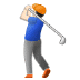 🏌🏻‍♂️ man golfing: light skin tone Emoji on Samsung Platform