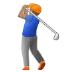 🏌🏽♂️ man golfing: medium skin tone Emoji on Samsung Platform