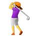 🏌️♀️ woman golfing Emoji on Samsung Platform
