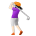 🏌🏻♀️ woman golfing: light skin tone Emoji on Samsung Platform