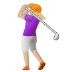 🏌🏼♀️ woman golfing: medium-light skin tone Emoji on Samsung Platform