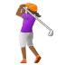 🏌🏾♀️ woman golfing: medium-dark skin tone Emoji on Samsung Platform