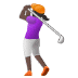 🏌🏿♀️ woman golfing: dark skin tone Emoji on Samsung Platform
