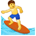🏄 person surfing Emoji on Samsung Platform