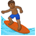 🏄🏾 person surfing: medium-dark skin tone Emoji on Samsung Platform