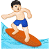 🏄🏻‍♂️ man surfing: light skin tone Emoji on Samsung Platform
