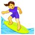 🏄♀️ woman surfing Emoji on Samsung Platform