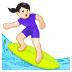🏄🏻♀️ woman surfing: light skin tone Emoji on Samsung Platform