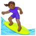 🏄🏾♀️ woman surfing: medium-dark skin tone Emoji on Samsung Platform