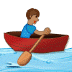 🚣🏽 person rowing boat: medium skin tone Emoji on Samsung Platform