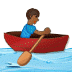 🚣🏾 person rowing boat: medium-dark skin tone Emoji on Samsung Platform