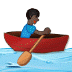 🚣🏿‍♂️ man rowing boat: dark skin tone Emoji on Samsung Platform