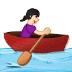 🚣🏻♀️ woman rowing boat: light skin tone Emoji on Samsung Platform