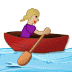🚣🏼‍♀️ woman rowing boat: medium-light skin tone Emoji on Samsung Platform