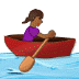 🚣🏾‍♀️ Medium Dark Skin Tone Woman Rowing Boat Emoji on Samsung Platform