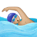 🏊🏼 person swimming: medium-light skin tone Emoji on Samsung Platform