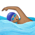 🏊🏽 person swimming: medium skin tone Emoji on Samsung Platform