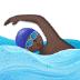 🏊🏿 person swimming: dark skin tone Emoji on Samsung Platform