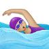 🏊🏼♀️ woman swimming: medium-light skin tone Emoji on Samsung Platform