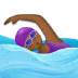 🏊🏾‍♀️ woman swimming: medium-dark skin tone Emoji on Samsung Platform