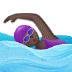 🏊🏿♀️ woman swimming: dark skin tone Emoji on Samsung Platform