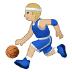 ⛹🏼 person bouncing ball: medium-light skin tone Emoji on Samsung Platform