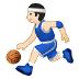 ⛹🏻♂️ man bouncing ball: light skin tone Emoji on Samsung Platform
