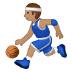 ⛹🏽‍♂️ man bouncing ball: medium skin tone Emoji on Samsung Platform
