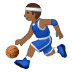 ⛹🏾‍♂️ man bouncing ball: medium-dark skin tone Emoji on Samsung Platform
